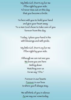 Daddys little girls, Dad in heaven and Poem on Pinterest