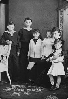 Maria Feodorovna with Her Children.