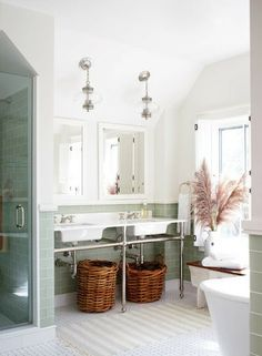 from Modern Country Style blog: Modern Country Bathroom