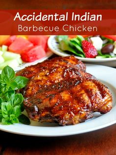 Accidental Indian Barbecue Chicken - read how I came to discover this flavor fusion of Indian spices with a terrific homemade barbecue sauce. You've never tasted anything like it.