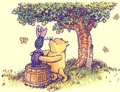 Spencer Aloysius' Winnie the Pooh Clipart Collection Winnie The Pooh Nursery, Winne The Pooh, Winnie The Pooh Quotes, Winnie The Pooh Friends, Disney Winnie The Pooh, Eeyore, Tigger, Pooh Bear, Children's Book Illustration