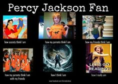 Percy Jackson fan. Lol.