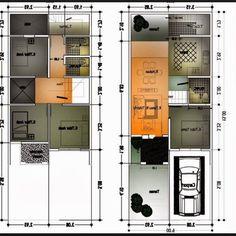 Gambar Denah Rumah Minimalis Ukuran 6x10 Terbaru