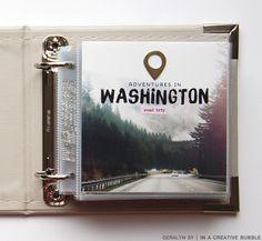 In a Creative Bubble: Seattle Travel Mini-album Scrapbooking Album, Pocket Scrapbooking, Mini Scrapbook Albums, Travel Scrapbook, Project Life Travel, Project Life Album, Mini Albums, Seattle Travel, Milan Travel