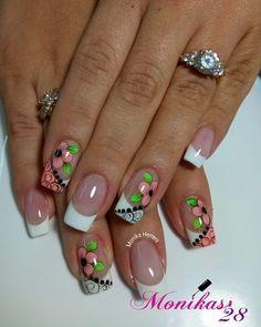 #nails #nail #fashion #style #cute French Tip Nail Designs, French Tip Nails, Cute Nail Designs, Pretty Toe Nails, Cute Nails, Nail Picking, Elegant Nail Art, Basic Nails, Fabulous Nails