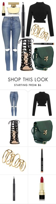 """""""Untitled #594"""" by daimy-style ❤ liked on Polyvore featuring Topshop, Jonathan Simkhai, Gianvito Rossi, H&M, Bobbi Brown Cosmetics, MAC Cosmetics and Dolce&Gabbana"""