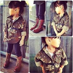 an outfit for daddy's girl future military look