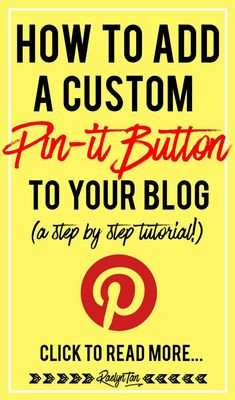 Here's how you can get a custom Pin it button to appear on your images when someone hovers on one of your images. This is a complete step-by-step tutorial! Business Website, Business Tips, Online Business, Craft Business, Business Entrepreneur, Online Blog, Online Jobs, Pinterest For Business, Social Media Marketing