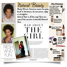 Natural Beauty...Natural Hair, created by stylejournals on Polyvore