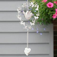Vintage Bird Heart Decoration - anniversary gifts