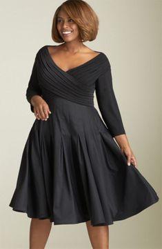 swingy little black dress – Plus Size Fashion Best Cocktail Dresses, Plus Size Cocktail Dresses, Evening Dresses Plus Size, Plus Size Skirts, Plus Size Outfits, Plus Size Dresses To Wear To A Wedding, Flattering Plus Size Dresses, Plus Size Fashion For Women, Plus Size Women
