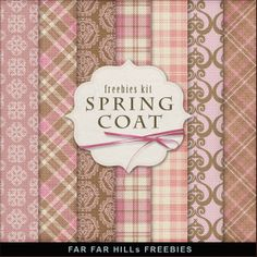 Far Far Hill: New Freebies Papers Kit - Spring Coat