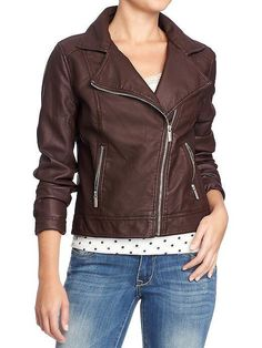 Is your wardrobe missing a wear-with-anything moto jacket? ThisOld Navy steal($50) lets you try the trend without shelling out a ton of cash. via StyleList