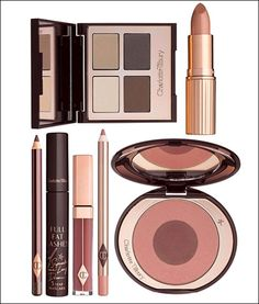 Charlotte Tilbury makeup. Bond Girl & Walk of Shame lipstick & Love Glow bronzer