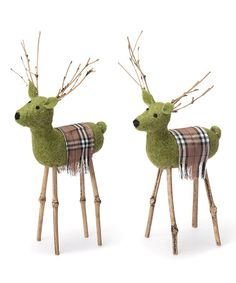 Take a look at this Woodsy Deer Figurine - Set of Two by Foreside on #zulily today!