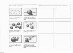 Worksheet Ideas High School Art Worksheets Chiaroscuro Project Mrs Begins Room : Worksheet Design Ideas - New Sites High School Art, Middle School Art, Drawing Lessons, Art Lessons, Elements Of Art Space, Intro To Art, Art Handouts, Art Assignments, Value In Art