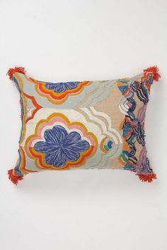 Embroidered Bhangra Pillow #anthropologie