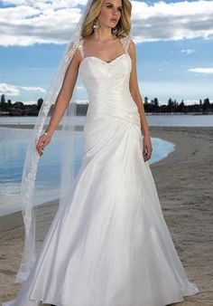 Amazing beach wedding dresses 2013 straps