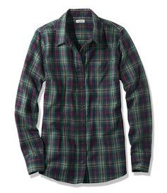 LL Bean Women's Scotch Plaid Shirt, Slightly Fitted Deep Evergreen Tartan, XS                                                                                                                                                     More