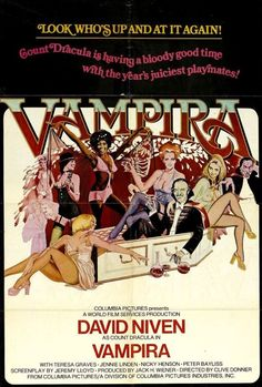 Vampira aka Old Dracula (1974) Dr Phibes, Horror Movie Posters, Horror Movies, Cinema Posters, David Niven, Count Dracula, Internet Movies, Robert Mcginnis, British Comedy