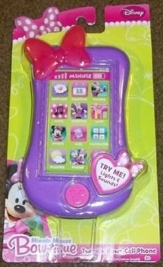 Minnie Mouse Bow-tique Twinkle Bows Cell Phone by Disney. $14.95. LIGHTS,SOUNDS AND MINNIE PHRASES