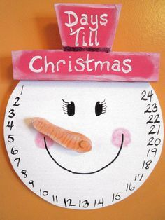 Snowman Girl COUNTDOWN to Christmas Wall Hanging / by gr8byz