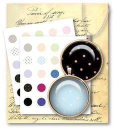 418-Micro Polka Dot 1 inch Circle-Digital Collage Sheet - Vintage Papers - Digital collage sheets, Vintage Clipart, Printables, Scrapbooking supplies