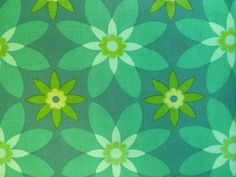 SPIROGRAPH vintage cotton fabric. $19.50, via Etsy. Green