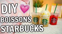DIY BOISSONS STARBUCKS | Amélie Barbeau Café Starbucks, Barbeau, Diy, Food, Starbucks Recipes, I Love Coffee, Homes, Bricolage, Essen
