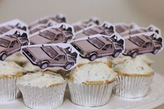 Back to the Future themed cupcakes