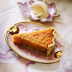 Treacle Ginger Tart - Ginger brings a subtle heat and spiciness to this classic recipe Tart Recipes, Pudding Recipes, Gourmet Recipes, Sweet Recipes, Baking Recipes, Dessert Recipes, Drink Recipes, Sweet Pie, Sweet Tarts
