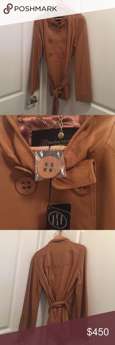 Hayden Harnett Genuine Leather Coat Hayden Harnett Buttery Soft Genuine Leather Coat. New with Tags. Hayden Harnett  Jackets & Coats