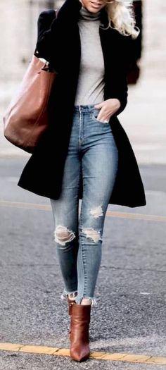 c9fd19de7e03d0 Jeans Fashion, Dress Fashion, Fashion Mode, Trendy Fashion, New Fashion,  Look