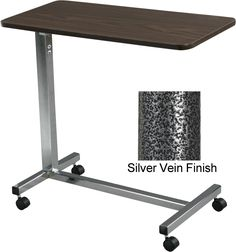 Overbed Table With Vanity Drawer