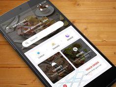 Restaurant App by Dual Pixel™ Restaurant App, Application Design, Adobe Xd, App Ui Design, Lunch Snacks, Mobile Design, Material Design, Design Development, Mobile App