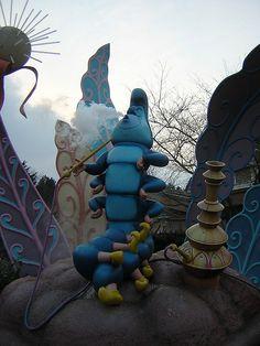 in the maze at Paris Disneyland