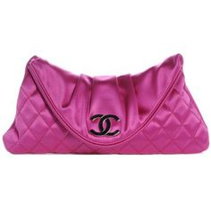 Chanel New Satin Quilted Flap Pink Fuchsia Clutch $1,850