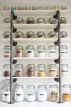 organisieren sie ihre speisekammer regale idee storage pinterest design. Black Bedroom Furniture Sets. Home Design Ideas