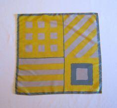 Vera silk scarf Vera scarf Mustard yellow / by PastPiecesVintage