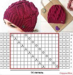Knitting Patterns Hat We knit a warm hat and a snitch with false braids Baby Hats Knitting, Knitting Charts, Knitting Stitches, Hand Knitting, Knitted Hats, Bonnet Crochet, Knit Or Crochet, Crochet Hats, Knitting Patterns