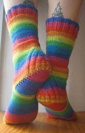 Ravelry: Vanilla is the New Black (Sport & DK) pattern by Anneh Fletcher heb ik Loom Knitting, Knitting Socks, Hand Knitting, Knitting Patterns, Knit Socks, Socks And Heels, Black Socks, Striped Socks, Crochet Socks Pattern