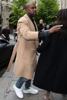 Kanye West wears the adidas Originals Stan Smith in Paris #kanyewest #adidas #adidasoriginals