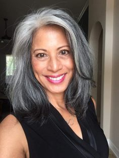- All About Hairstyles Grey White Hair, Long Gray Hair, Silver Grey Hair, Grey Hair Lowlights, Silver Hair Highlights, Silver Haired Beauties, Grey Hair Inspiration, Grey Hair Don't Care, Gray Hair Growing Out