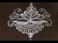 How to Draw a Creative Rangoli Kolam Design Rangoli Designs Simple Diwali, Rangoli Side Designs, Simple Rangoli Border Designs, Simple Art Designs, Rangoli Simple, Basic Mehndi Designs, Rangoli Designs Latest, Free Hand Rangoli Design, Small Rangoli Design