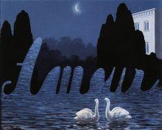René Magritte - L'Art de la Conversation, 1950  René Magritte : More At FOSTERGINGER @ Pinterest