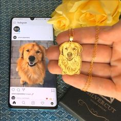 Personalized silver & gold necklace made using your favorite photo of your pet. Take a small piece of your best friend with you wherever you go with this Silvercut Necklace 🐾💖 Dog Jewelry, Animal Jewelry, Cute Jewelry, Diy Gifts, Great Gifts, Engraved Jewelry, Pet Memorials, Cute Funny Animals, My New Room