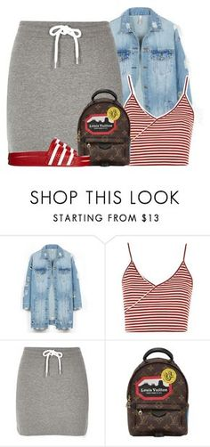 """""""Untitled #458"""" by ashcake-wilson ❤ liked on Polyvore featuring LE3NO, Topshop, River Island, Louis Vuitton and adidas Originals"""