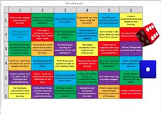 UPDATE    Resources:   This Grid  by @TomBrush192  <-- download here and the resources required for individual tasks?   Click here  for a n...