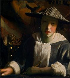 GIRL WITH A FLUTE by Johannes Vermeer 1665-1670