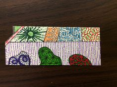 Zentangle on personality puzzle by Joe of Zen Drawing Club